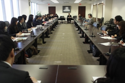 Wide view of meeting room