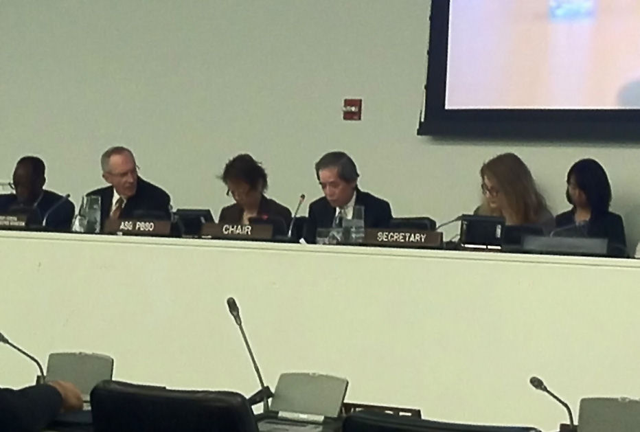 Ambassador Nishida chaired the Peacebuilding Commission (PBC) Working Group on Lessons Learned (WGLL) meeting
