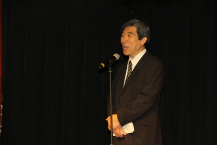 Ambassador Kodama read a message from H.E. Mr. Yoshihiko Noda, Prime Minister of Japan