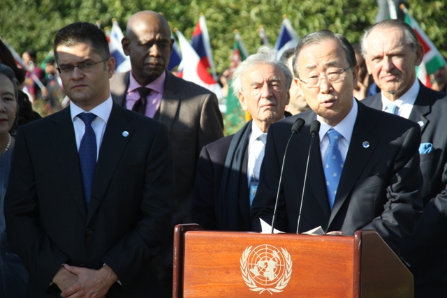 H.E. Mr. Ban Ki-moon, Secretary-General of the United Nations, and H.E. Mr. Jeremic, President of the General Assembly