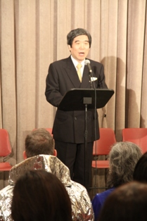Ambassador Kodama making his speech in the beggining of the event