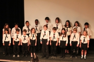 A chorus by the Studio School students at the opening ceremony
