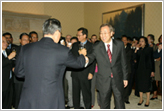 Amb. Oshima toasts Secretary-General-designate Ban Ki Moon.
