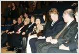 (Seated L-R) Madame and Amb. Sakurai, Dr. Kissinger, Amb. & Madame Oshima, film directors Ms. Kim and Mr. Sheridan, Amb. and Madame Shinyo.