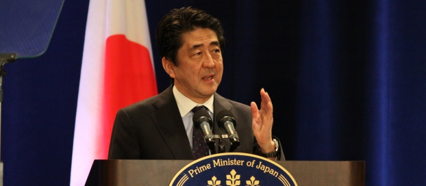 Prime Minister Shinzo Abe at the press conference after his address at the Sixty-Ninth Session of the General Assembly of the United Nations (25 September 2014)